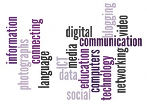 ICT terminology can be daunting for beginning teachers [image was created by the author using wordle.net]